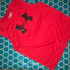 Red Under Armour sleeveless